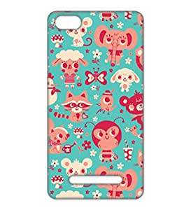 Happoz Xiaomi Mi 4i Cases Back Cover Mobile Pouches Patterns Floral Flowers Premium Printed Designer Cartoon Girl 3D Funky Shell Hard Plastic Graphic Armour Fancy Slim Graffiti Imported Cute Colurful Stylish Boys Z002