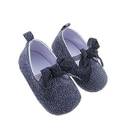Infant Baby Shoes Mosunx(TM) Toddler Breathable Non-slip Soft Bottom Prewalker (11CM, Black)