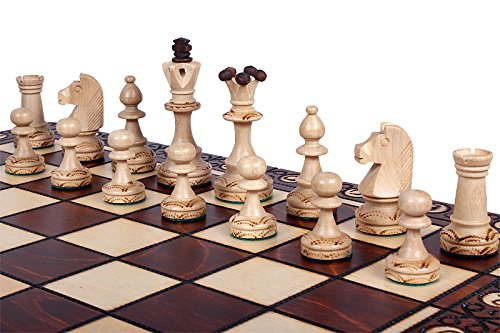 The Zaria - Unique Wood Chess Set, Pieces, Chess Board & Storage 0