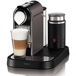 Nespresso Citiz & Milk con Aeroccino XN730TK macchina per caffè espresso di Krups, colore Titan