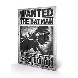 Batman - Arkham Origins, Se Busca Cuadro De Madera (60 x 40cm)