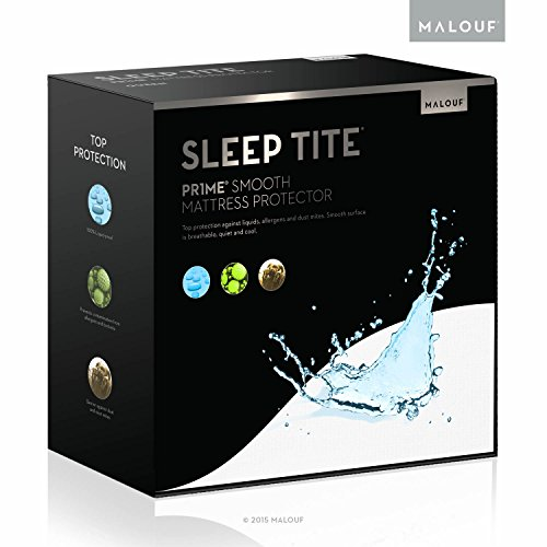 Find Bargain SLEEP TITE PR1ME Smooth 100% Waterproof Hypoallergenic Mattress Protector with 15-year ...