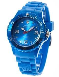 Detomaso - DT3007-D - Colorato - Montre Femme - Quartz Analogique - Cadran Bleu - Bracelet Silicone Bleu
