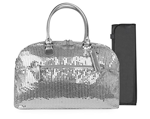 Trumpette Schleppbags Diaper Bag in Silver Sequin, Large