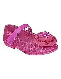 Doink Fuchsia Net Upper And Floral Applique Ballerina For Girls