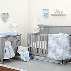 NoJo Dreamer - Blue/Grey Elephant 8 Piece Comforter Set