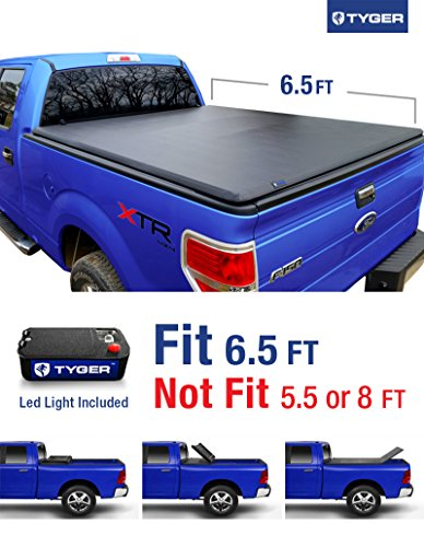 Tyger Auto TG-BC3F1020 Tri-Fold Pickup Tonneau Cover (Fits 09-14 Ford F-150 (NOT Flareside) w/o Utility Track 6.5 feet (78 inch)) (Tonneau Cover For F150 compare prices)