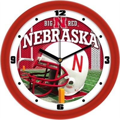 Nebraska Cornhuskers NCAA Football Helmet Wall Clock