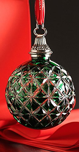 Waterford Annual Cased Ball Ornament - Emerald - NEW