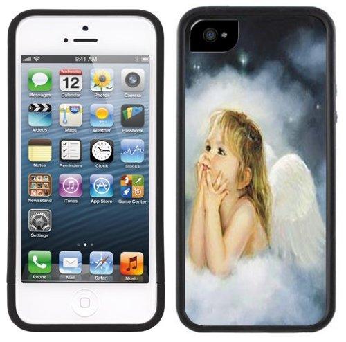Angel Baby Girl Handmade Iphone 5 Black Bumper Plastic Case front-184679