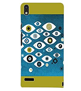 PrintDhaba MULTICOLOR DESIGN D-6903 Back Case Cover for HUAWEI ASCEND P6 (Multi-Coloured)