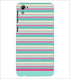 PrintDhaba Tribal pattern D-1770 Back Case Cover for HTC DESIRE 826 (Multi-Coloured)