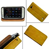 i KitPit   PU Leather Flip Case Cover For Karbonn A50 (YELLOW) available at Amazon for Rs.379
