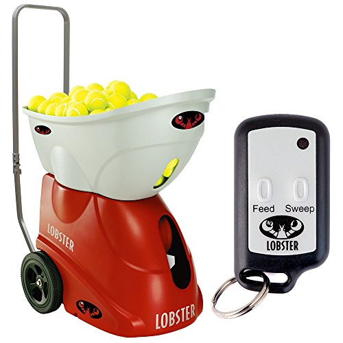 Lobster Sports Elite 2 Portable Tennis Ball Machine (21x14x 20- Inch) (Lobster Elite Remote compare prices)
