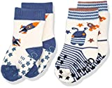 Sterntaler Baby-Jungen Socken Abs-Krabbelsöckchen DP Rakete, Beige (Ecru 903), 22