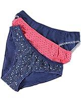 3er Pack Damen Slips mit Muster aus Baumwolle Midi-Slip Bikinislips