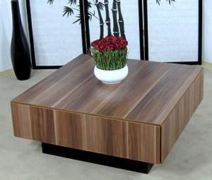 Couchtisch kernnuss nussbaum tisch wohnzimmertisch for Design tisch smooty