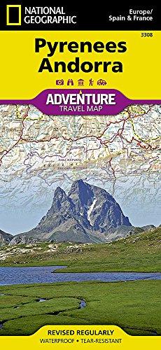 Pyrenees, Andorra : 1/275 000 (Adventure map)