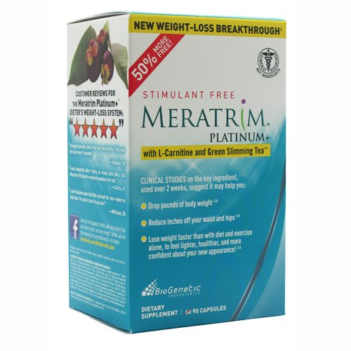 Biogenetic Laboratories Meratrim Platinum Plus With L-Carnitine And Green Slimming Tea -- 90 Capsules