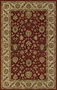 Traditional Area RUG Salsa/Ivory Hand Tufted WOOL Persian NEW CARPET 5x8 Exact Size:5' X 8'