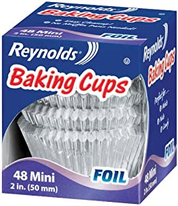 Reynolds Baking Cups, Mini Foil, 48-Count  (Pack of 24)