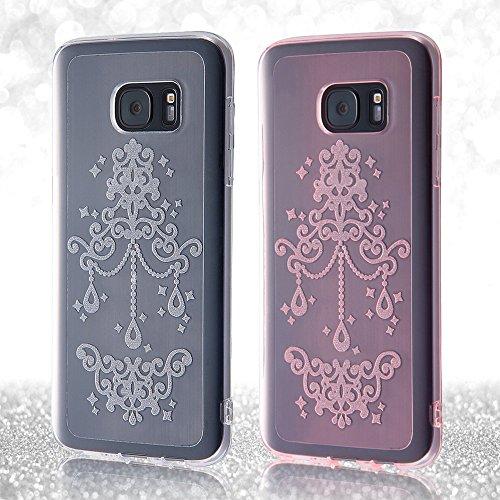 レイ・アウト Galaxy S7 edge TPUソフトケース ジュエラ クリア RT-GS7EC6/C