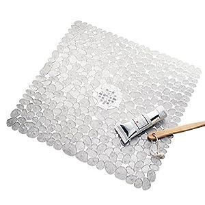 InterDesign Pebblz Shower Mat, Clear
