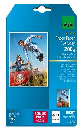 papier photo Everyday Plus jet d'encre, 10 x 15 cm, blanc, format photo, ultra brillant, 200 g/m2...