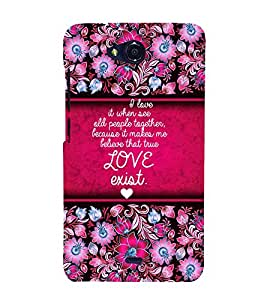 Love Exist Quote Cute Fashion 3D Hard Polycarbonate Designer Back Case Cover for Micromax Canvas Play Q355