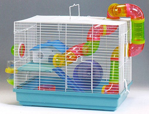 NEW 2 Levels Hamster Habitat Rodent Gerbil Mouse Mice Rats Animal Cage 51vMowZZYdL
