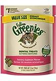 FELINE GREENIES Dental Treats for Cats Savory Salmon - 5.5 oz.