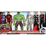 Marvel Avengers Titan Hero Series 6 Pack: Captain America, Iron Man, Hulk, Ultron, Thor, Marvels Haw