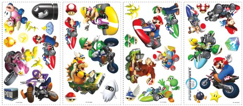 Roommates 771Scs Nintendo Mario Kart Peel And Stick Wall Decals, 34 Count - 1