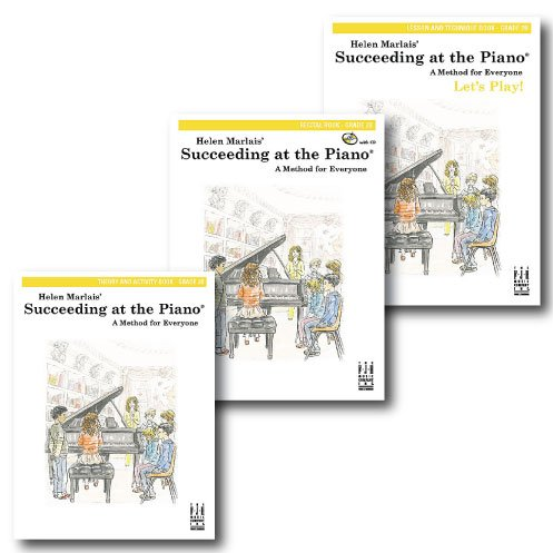 Succeeding At The Piano, Grade 2B - Three Book Learning Set - Includes Lesson & Technique, Theory & Activity, And Recital Books