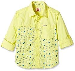 UFO Boys' Shirt (AW16-WF-BKT-255_Yellow_8 - 9 years)