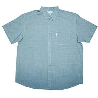 Big tall mens columbia button down short sleeve summer for Mens tall button down shirts