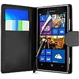 Generic Schlichte Einfarbige Buchstil Schale Leder Hülle mit Schutzfolie, Mini-Eingabestift für Nokia Lumia 1320