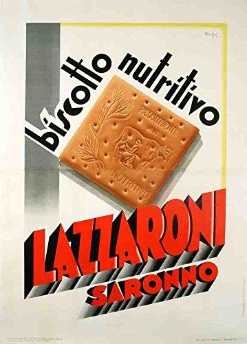 metal-sign-lazzaroni-biscuit-italian-art-deco-marchesi-1930s-a4-12x8-aluminium