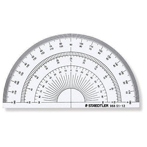 ステッドラー 半円分度器 12cm