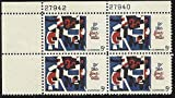 No. 1259, U. S. Postage Stamp Plate Block 1964 5c Fine Arts by USPS
