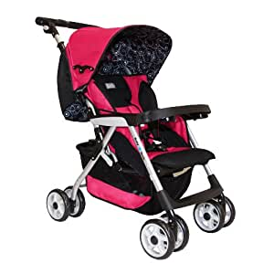 Abiie G2G BabyDeck Stroller, Fuchsia Red (Discontinued by Manufacturer)