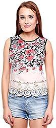 ShilpKala Women's Sleeveless Top (skt3057s, Cream, Small)