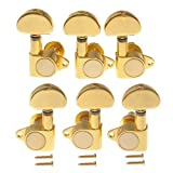 Gusnilo 1set 3l3r Grover - Style Tunning Pegs Grover Tuners Machine Heads Gold