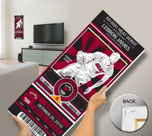 That's My Ticket Lebron James Artist Series Mega Ticket Wall Decor, Miami Heat, Speakerman (Wall Ticket compare prices)