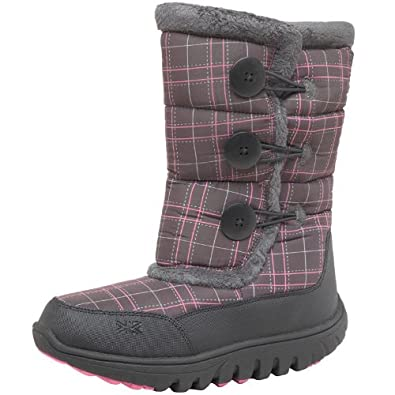 Karrimor Womens Snow Button Weathertite Boots Black/Cochineal