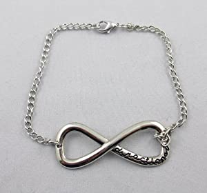 One Direction Infinite Sign Bracelet Silver Tone 1d Infinity Charms Collect Bangle by Bracelet