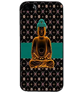 PrintDhaba Lord Buddha D-5629 Back Case Cover for APPLE IPHONE 4S (Multi-Coloured)