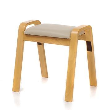 Sgabello creativo Sgabello in legno di moda Leisure Sgabello resistente e resistente Sgabello da sgabello da DRM