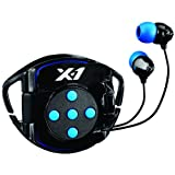 X-1 (Powered by H2O Audio) INT4-BK-X Interval 4G Waterproof Headphone System for iPod Shuffle (Black/Blue) Reviews