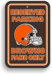 Cleveland Browns Plastic Parking Signs Set Of 2 - Parking Sign Browns